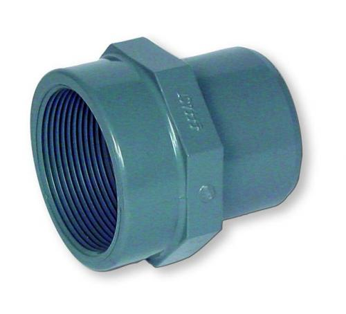 Grey pvc adapter socket bsp female thread pipe and