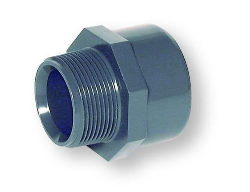 Grey pvc adapter nipple bsp male thread pipe and fittings